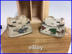 Rare 2 Pcs Set Of Daisuke Sano Shohin Size Bonsai Tree Pot With Custom Box 4 3/8