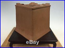 Rare Shape Heian Tofukuji Sr. Shohin Size Bonsai Tree Pot 4 3/4 By 4 7/8