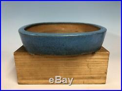 Robins Egg Blue Glazed Tokoname Bonsai Tree Pot By Koyo 15 7/8