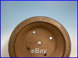 Round Semi Cascade Tokoname Bonsai Tree Pot By Ikkodo 14 3/4 By 4 5/8