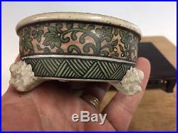 Shohin Size Bonsai Pot Made By Sano Daisuke 3 1/2 Awesome Demon Feet And Paint