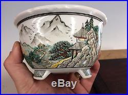 Special Edition 5 Color Shohin Size, Gekkou Painted Bonsai Tree Pot. 5 1/4 #1