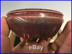 Special Edition Eimei Shohin Size Bonsai Tree Pot With Signed Box And Cloth 3+
