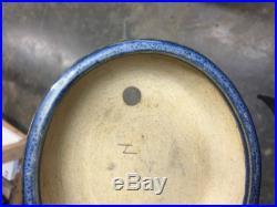Stunning Blue Glazed Rare Wajaku Shohin Size Bonsai Tree Pot, Killer Piece! 5+