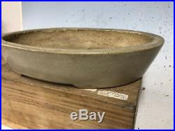Stunning Older Tokoname Bonsai Tree Pot Made By Koyo Great Patina 12 3/8