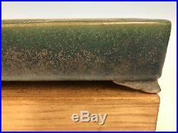 Stunning Vintage Tokoname Green Glazed Bonsai Tree Pot By Ikkou 11 1/8
