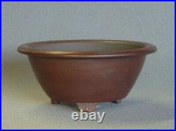Tokoname Bonsai Pot BIGEI Outer edge Round Diameter 153mm x H 67mm