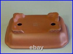 Tokoname Bonsai Pot IKKO Red Brown Outer edge Rectangle 178Ã128Ã49mm