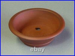 Tokoname Bonsai Pot IKKO Red Brown (Shudei) Outer edge Round Diameter