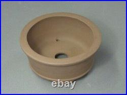 Tokoname Bonsai Pot IZUMIYA Brown Purple Cloud Legs Round Diameter 159Ã72mm