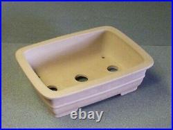 Tokoname Bonsai Pot IZUMIYA Outer edge Rectangle 219mm à 167mm à H 66mm