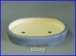 Tokoname Bonsai Pot KOYO Blue Oval 305mm à 240mm à H 53mm