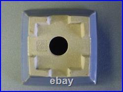 Tokoname Bonsai Pot KOYO Light blue Outer edge Square 130mm à 130mm à H 66mm