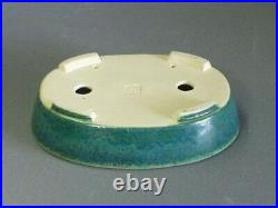 Tokoname Bonsai Pot KOYO green Oval 193mm à 145mm à H 45mm