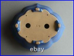 Tokoname Bonsai Pot REIHO Blue Purple(Kin) with legs 315mmx273mmx93mm