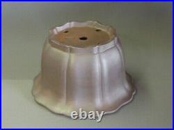 Tokoname Bonsai Pot REIHO Flower Shaped Pot Purple Outer edge 250mmx240mmx145mm