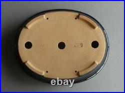 Tokoname Bonsai Pot REIHO Oval Dark Blue(Ruri) Outer edge 260mmx210mmx60mm