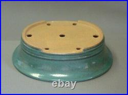 Tokoname Bonsai Pot REIHO Oval Green(Oribe) Outer edge 290mmx245mmx79mm