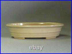 Tokoname Bonsai Pot REIHO Oval White Outer edge 262mmx212mmx60mm