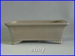 Tokoname Bonsai Pot REIHO Rectangle Outer edge Cloud Legs 274mmx216mmx96mm