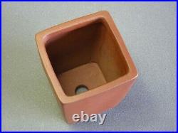 Tokoname Bonsai Pot SHIBAKATSU Brown Purple Square 95mm à 95mm à 135mm