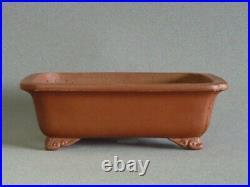 Tokoname Bonsai Pot SHIBAKATSU Cloud Legs Rectangle 213mm à 174mm à H 69mm
