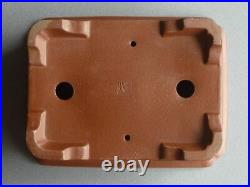 Tokoname Bonsai Pot SHIBAKATSU Rectangle Outer edge Horny edge 225mmx170mmx74mm