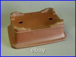Tokoname Bonsai Pot SHIBAKATSU Rectangle Outer edge Horny edge 255mmx195mmx85mm