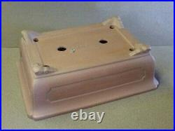 Tokoname Bonsai Pot YAMAAKI 1 Outer edge Rectangle 383mm à 283mm à H 129mm