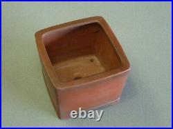 Tokoname Bonsai pot BIGEI Square 116mm x 116mm x 95mm
