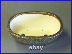 Tokoname Japanese Bonsai pot Oval shape KOYO (7.25.52.5 in.) Brown Color