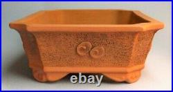 Tokoname Japanese Bonsai pot Rectangle IZUMIYA (16.110.64.4 in.) Dragon design