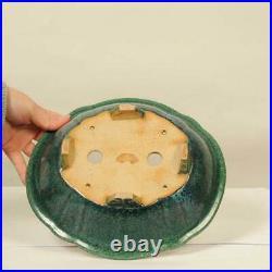 Tokoname Kouyou Koyo Japanese Bonsai pot Mokko foot bowl 24.5 cm Free Shipping