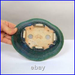Tokoname Kouyou Koyo Japanese Bonsai pot Mokko rimmed bowl 17 cm Free Shipping