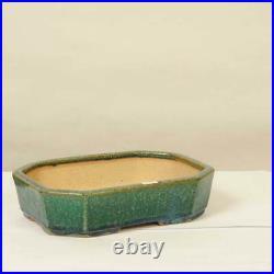Tokoname Kouyou Koyo Japanese Bonsai pot long-angle corner cutting bowl 24 cm