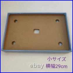 Tokoname ware bonsai pot rectangular large and small set of 2 unused