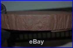 Unglazed Round Yamaaki Wood Grain Style Bonsai Tree Pot, Great Value