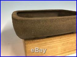 Unglazed Tokoname Bonsai Tree Pot By Shuho 13 1/2