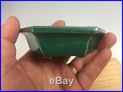 Very Rare Color N Shape Antique Chinese Shohin Size Bonsai Tree Pot, Tsubaki-you