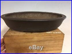 Vintage Handmade 1st Gen Yamaaki Bonsai Tree Pot, Great Piece 14 3/8 Shosen