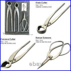 Vouiu 3-Piece Bonsai Tool Set, 11Inch Concave Cutter, 11.5Inch Knob Cutter, 7.5Inch