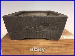 Wood Grain Style 1st Generation Yamaaki Bonsai Tree Pot 10 1/4