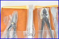 Yagimitsu High Quality Professional Japanese 5 pcs Bonsai Tool Set Kit in Case