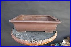 Yamaaki Tokoname Japanese Bonsai Pot 15.75x12.5x4.5 signed & stamped