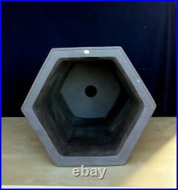 Yixing, figh fired, Hexagon cacade pot inside 17.25 x 17.25 x 19D
